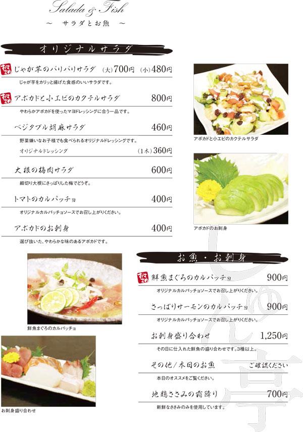 夜膳 サラダとお魚